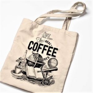"BURACA TOTE BAG ""The Real Coffee Adventures"""